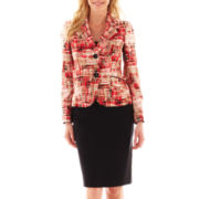 Le Suit® Twill Skirt Suit