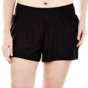 Sonria Solid Swim Shorts - Plus