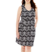 Porto Cruz® Medallion Print Deep Pocket Cover-Up Dress - Plus
