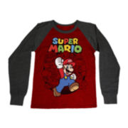 Super Mario Long-Sleeve Raglan Graphic Tee - Boys 6-18