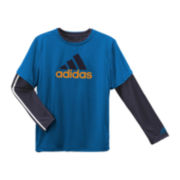 adidas® 3-in-1 Long-Sleeve Shirt and Short-Sleeve Tee Set - Boys 8-20