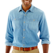 St. John's Bay® Long-Sleeve Denim Shirt