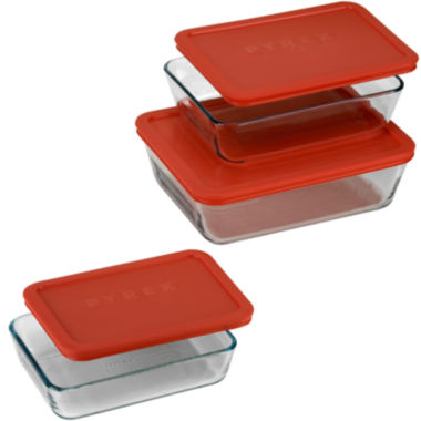 jcpenney.com | Pyrex® Value Pack 6-pc. Rectangular Food Storage Set