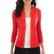 Worthington® Open-Front Textured Cardigan Sweater