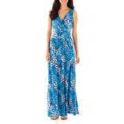 St. John's Bay® Sleeveless V-Neck Maxi Dress - Petite