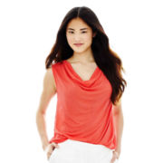 Joe Fresh™ Cowlneck Lace-Back Tank Top