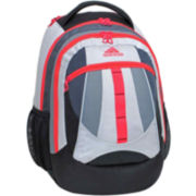 adidas® Hickory Backpack-White/Red