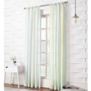 Emmeline Striped Rod-Pocket Sheer Panel