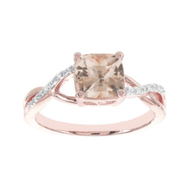 jcpenney.com | Blooming Bridal Genuine Cushion-Cut Morganite and Diamond-Accent 14K Rose Gold Ring