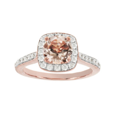 jcpenney.com | Blooming Bridal Genuine Morganite and Diamond 14K Rose Gold Ring