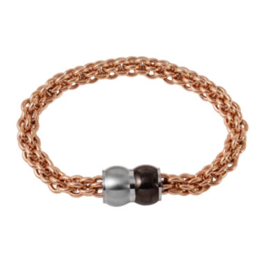 jcpenney.com | Mens Rose Ion-Plated Stainless Steel Braided Chain Bracelet