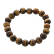 Dee Berkley Mens Genuine Tiger's Eye Bead Stretch Bracelet