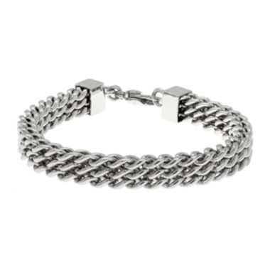 jcpenney.com | Mens Stainless Steel Multi-Row Chain Bracelet