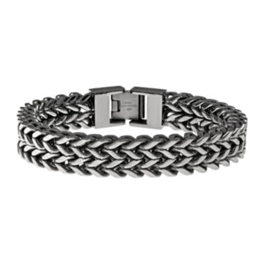 jcpenney.com | Mens Antique Finish Stainless Steel Wheat Bracelet
