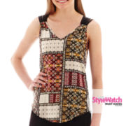 by&by Batik Crisscross-Back Tank Top