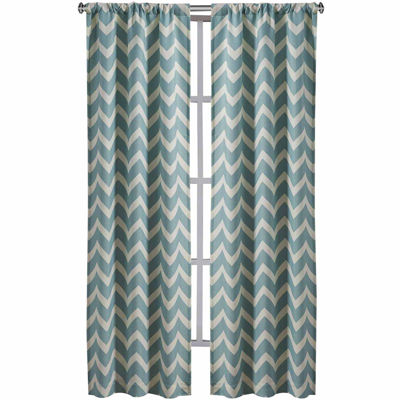 Richloom Rhodes 2-Pack Chevron Rod-Pocket Curtain Panels