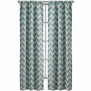 Richloom Rhodes 2-Pack Rod-Pocket Curtain Panels