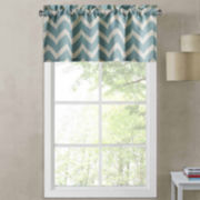 Richloom Rhodes Chevron Rod-Pocket Tailored Valance