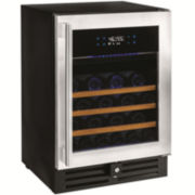 Wine Enthusiast® N'FINITY PRO™ HDX 46 Dual-Zone Wine Cellar - Stainless Steel Door