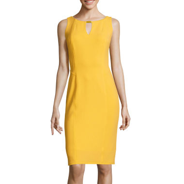 jcpenney.com | Worthington® Sleeveless Ottoman Keyhole Sheath Dress