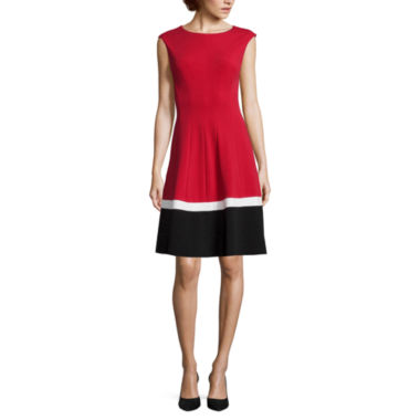 jcpenney.com | Studio 1® Sleeveless Colorblock Fit-and-Flare Dress