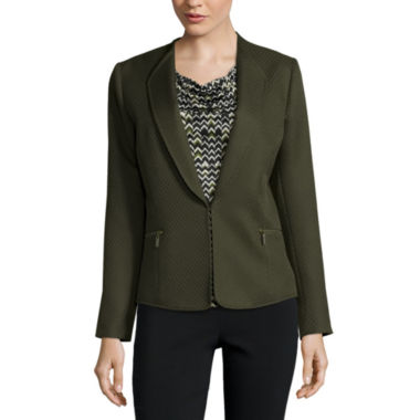 jcpenney.com | Chelsea Rose Textured Jacket with Zippers