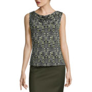 Chelsea Rose Sleeveless Print Blouse