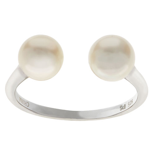 6.5-7Mm Cultured Freshwater Pearl Sterling Silver Ring