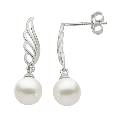 7-7.5Mm Cultured Freshwater Pearl Sterling Silver Earrings