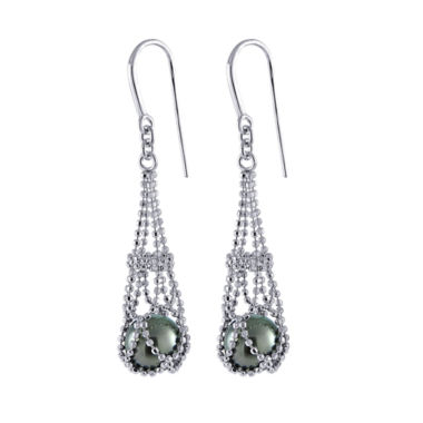 jcpenney.com | 8-9Mm Genuine Tahitian Pearl Sterling Silver Earrings