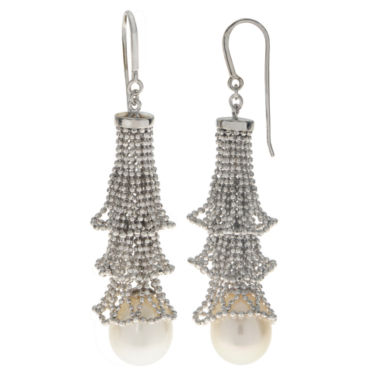 jcpenney.com | 10-11Mm Cultured Freshwater Pearl Sterling Silver Earrings