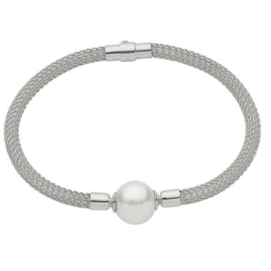 jcpenney.com | 12.5-14.5Mm Cultured Freshwater Pearl Sterling Silver Bracelet