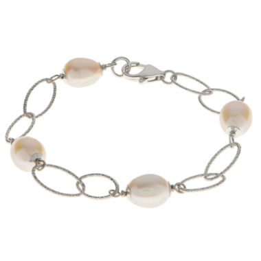 jcpenney.com | 8.5-9Mm Cultured Freshwater Pearl Sterling Silver Bracelet