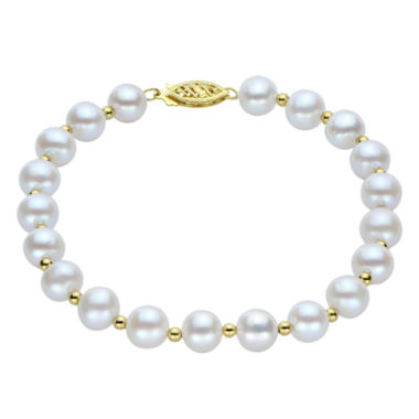 jcpenney.com | 7-7.5Mm Cultured Freshwater Pearl Sterling Silver Bracelet