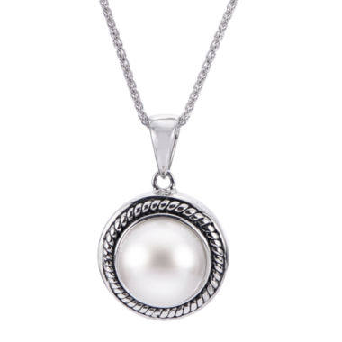 jcpenney.com | 9.5-10Mm Cultured Freshwater Button Pearl Sterling Silver Pendant
