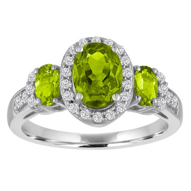 jcpenney.com | Genuine Peridot And Lab Created White Sapphire Sterling Silver Ring