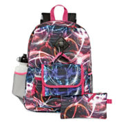 Confetti 5-pc. Abstract Lights Backpack Set - Girls
