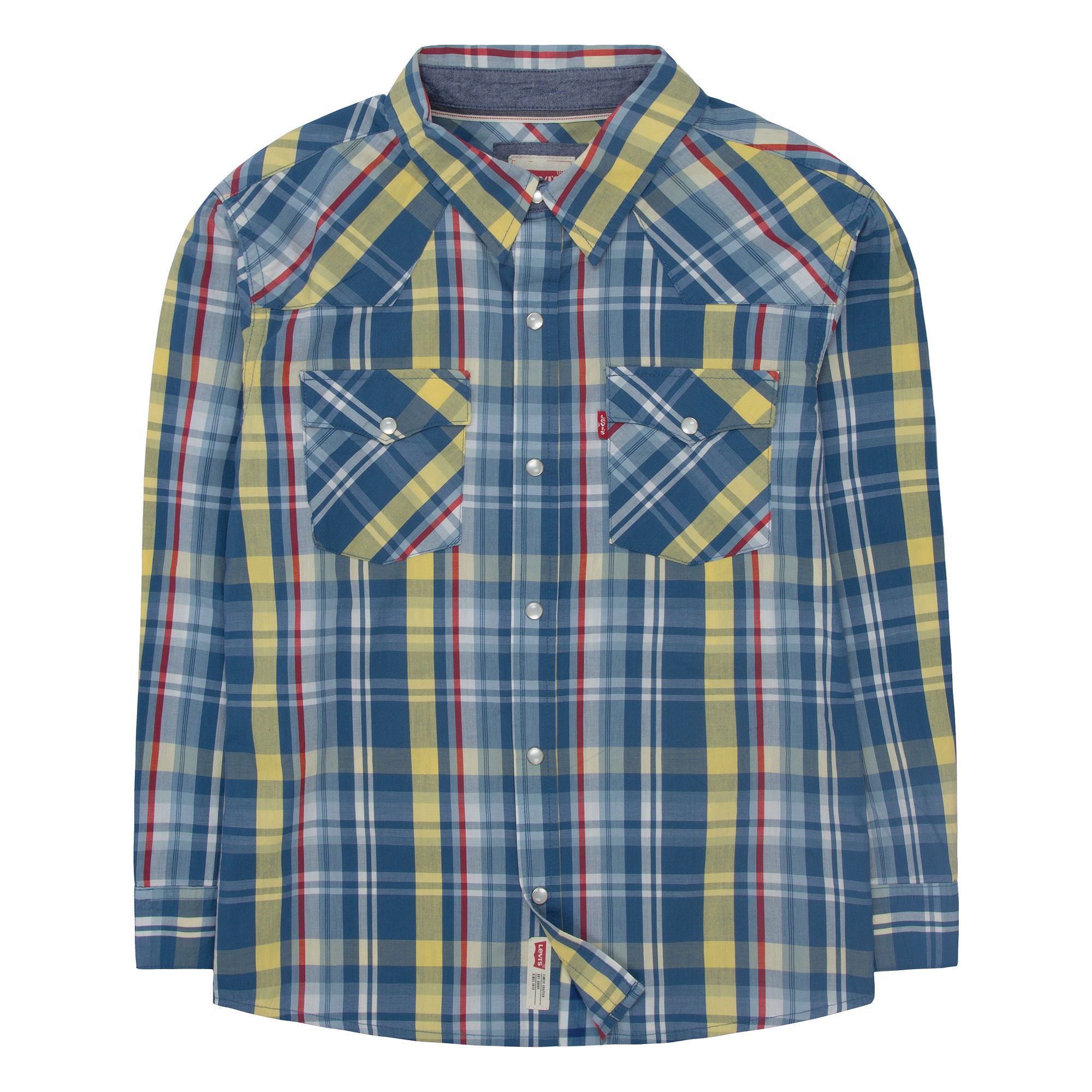 431adf1d I LOVE IT Levis Long-Sleeve Barstow West Plaid Shirt - Boys 8-20