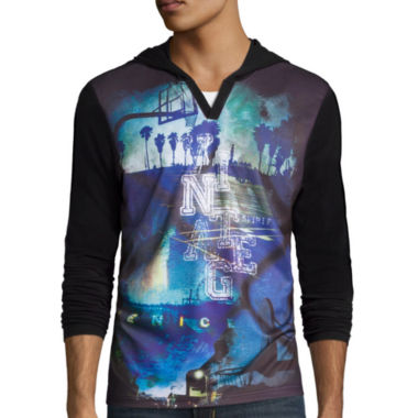 jcpenney.com | i jeans by Buffalo Cedano Long-Sleeve Hooded Knit Shirt