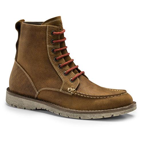 Dockers® Evanston Mens Leather Moc-Toe Boots