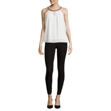 jcpenney.com | by&by Necklace-Trim Bubble-Hem Tank Top or Millennium Skinny Pull-On Pants