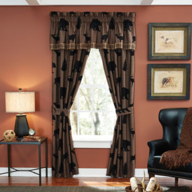 jcpenney.com | Croscill Classics® Shadow Bears 2-Pack Rod-Pocket Lined Curtain Panels