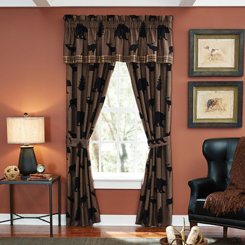Croscill Classics® Shadow Bears 2-Pack Rod-Pocket Lined Curtain Panels