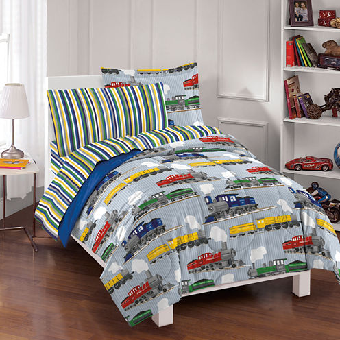 Dream Factory Trains Comforter Set