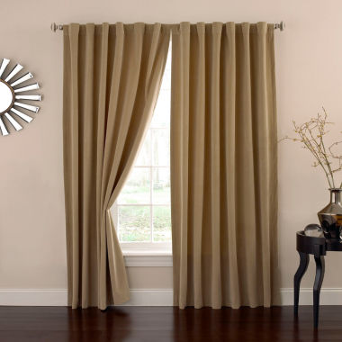jcpenney.com | Eclipse Absolute Zero Velvet Rod-Pocket Back-Tab Curtain Panel