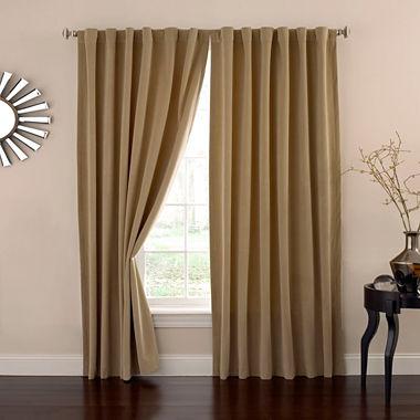 Eclipse Absolute Zero Velvet Rod-Pocket Back-Tab Curtain Panel ...