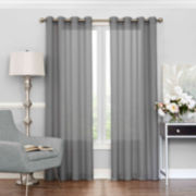 Eclipse Liberty Rod-Pocket Sheer Curtain Panel