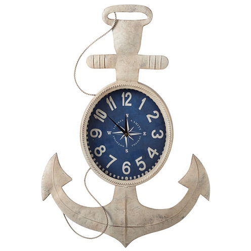 Ivory Anchor Wall Clock