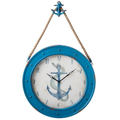Anchor Wall Clock with Anchor Holder