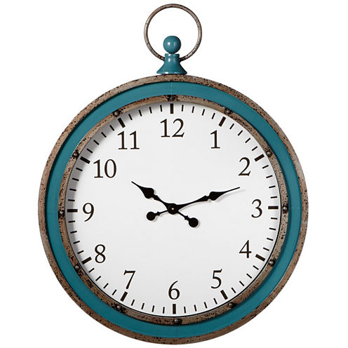 Teal Round Wall Clock